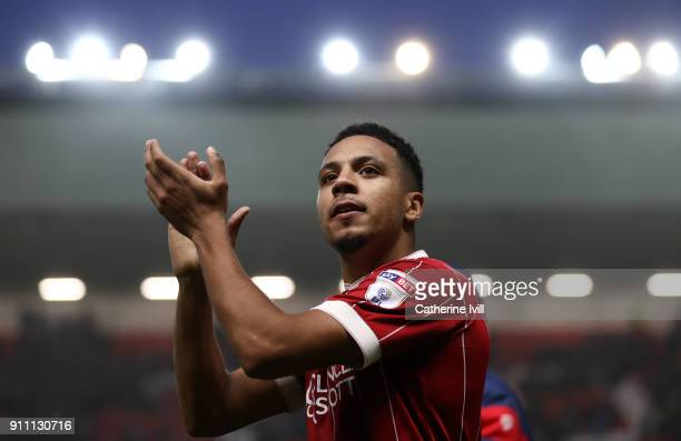 Korey Smith of Bristol City during the Sky Bet Championship match between Bristol City and Queens Park Rangers at Ashton Gate on January 27 2018 in...