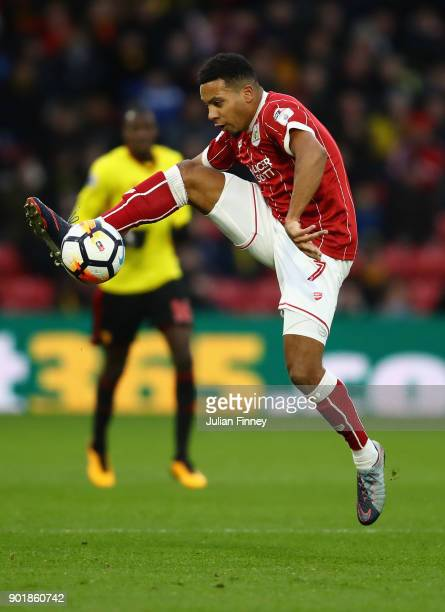 Korey Smith of Bristol City in action during The Emirates FA Cup Third Round match between Watford and Bristol City at Vicarage Road on January 6...