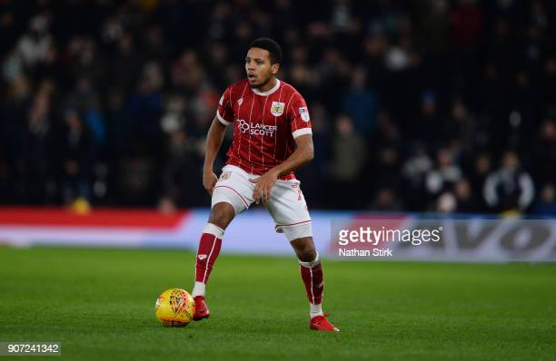 Korey Smith of Bristol City in action during the Sky Bet Championship match between Derby County and Bristol City at iPro Stadium on January 19 2018...