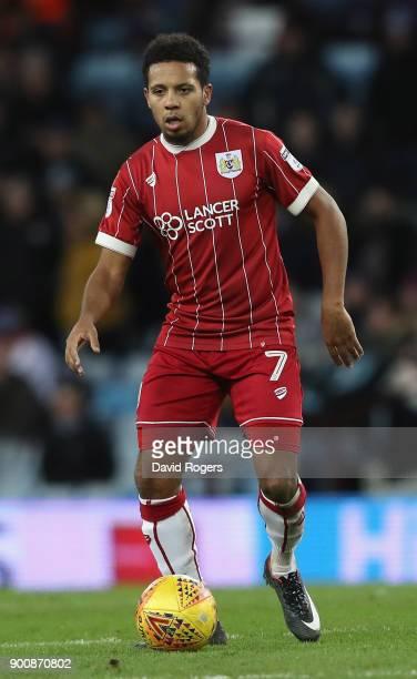 Korey Smith of Bristol City runs with the ball during the Sky Bet Championship match between Aston Villa and Bristol City at Villa Park on January 1...