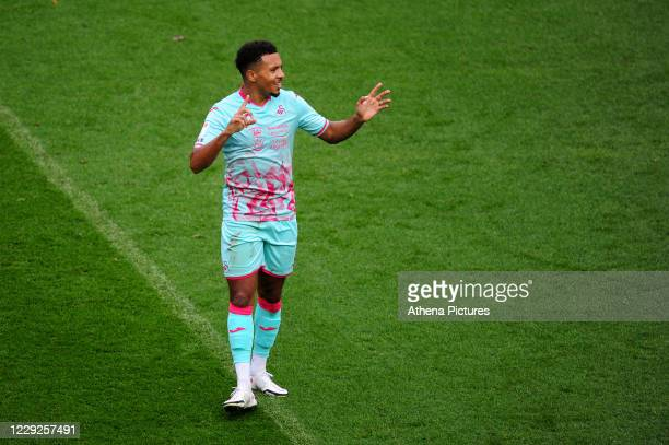 Korey Smith of Swansea City during the Sky Bet Championship match between Bristol City and Swansea City at Ashton Gate on October 24 2020 in Bristol...
