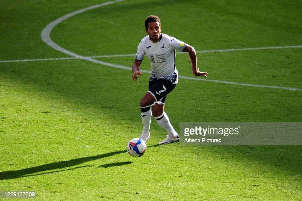 Korey Smith of Swansea City in action during the Sky Bet Championship match between Swansea City and Huddersfield Town at the Liberty Stadium on...