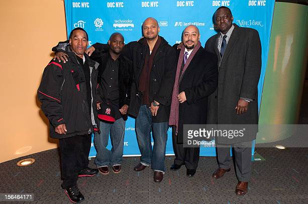 Korey Wise Antron McCray Kevin Richardson Raymond Santana and Yusef Salaam attend the 2012 NYC Doc Festival Closing Night Screening Of 'The Central...