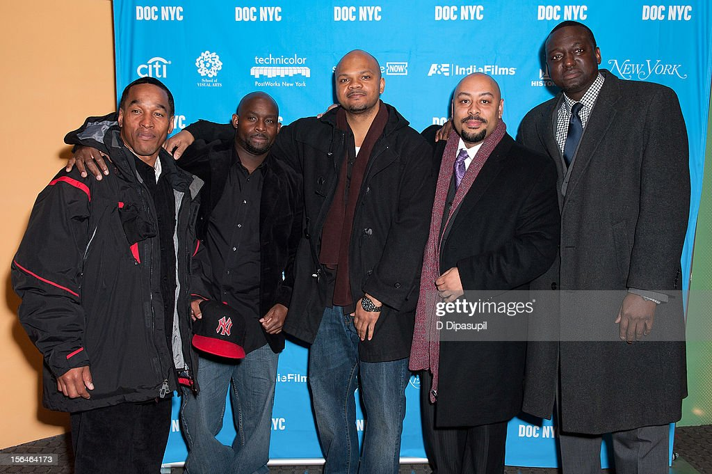 Korey Wise, Antron McCray, Kevin Richardson, Raymond Santana, and Yusef Salaam attend the 2012 NYC Doc Festival Closing Night Screening Of 'The Central Park Five' at SVA Theater on November 15, 2012 in New York City.
