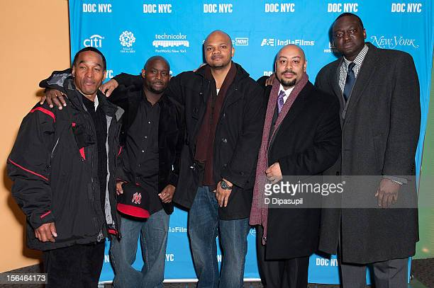 Korey Wise Antron McCray Kevin Richardson Raymond Santana and Yusef Salaam attend the 2012 NYC Doc Festival Closing Night Screening Of The Central...