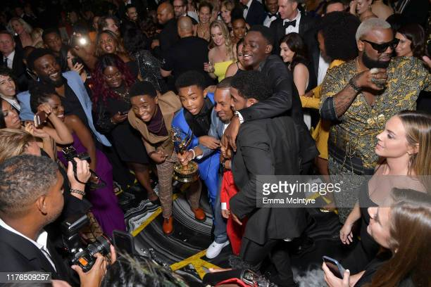 Korey Wise, Jharrel Jerome and guests attend the 2019 Netflix Primetime Emmy Awards After Party at Milk Studios on September 22, 2019 in Los Angeles,...