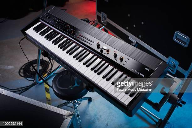 A Korg Grandstage 88 stage piano taken on October 9 2017