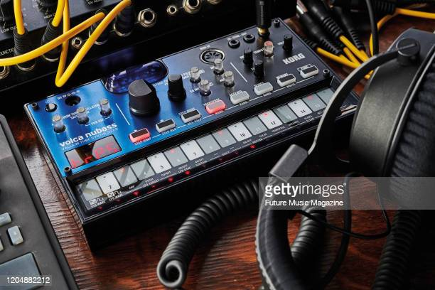 A Korg Volca Nubass vacuum tube synthesizer taken on June 3 2019