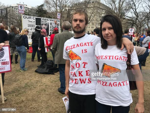FILE Kori and Danielle Hayes at a Pizzagate demonstration outside the White House in Washington DC on March 25 2017