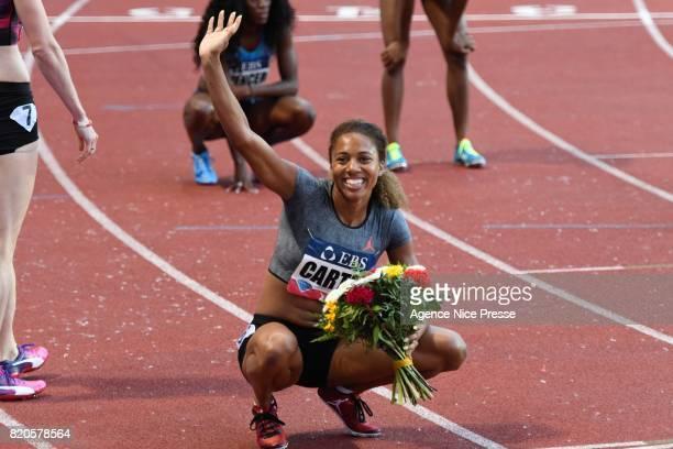 Kori Carter of USA women's 400m hurdles during the IAAF Diamond League Meeting Herculis on July 21 2017 in Monaco Monaco