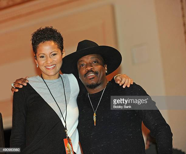 Kori Withers and Anthony Hamilton attend the soundcheck for Lean On Him A Tribute To Bill Withers at Carnegie Hall on October 1 2015 in New York City