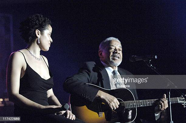 Kori Withers and Bill Withers during 36th Annual Songwriters Hall of Fame Induction Ceremony Show and Dinner at Marriott Marquis Hotel in New York...