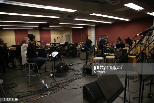 Kori Withers and Kathy Mattea rehearse for the Lean On Him A Tribute To Bill Withers show on September 30 2015 in New York City