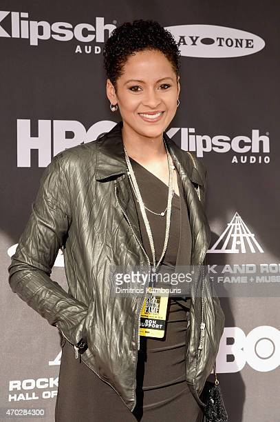 Kori Withers attends the 30th Annual Rock And Roll Hall Of Fame Induction Ceremony at Public Hall on April 18 2015 in Cleveland Ohio