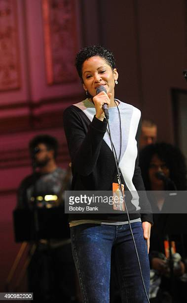 Kori Withers attends the soundcheck for Lean On Him A Tribute To Bill Withers at Carnegie Hall on October 1 2015 in New York City