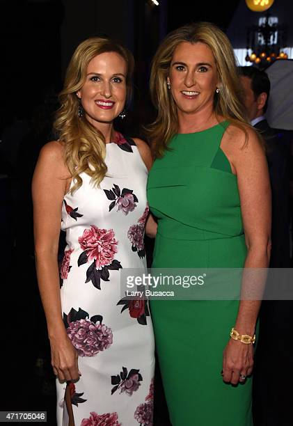 Korie Robertson and President and Chief Executive Officer AE Nancy Dubuc attend the 2015 AE Networks Upfront on April 30 2015 in New York City