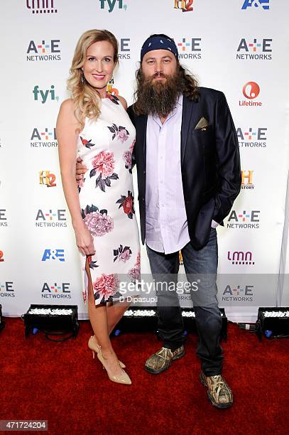 Korie Robertson and Willie Robertson attend AE Network's 2015 Upfront at Park Avenue Armory on April 30 2015 in New York City