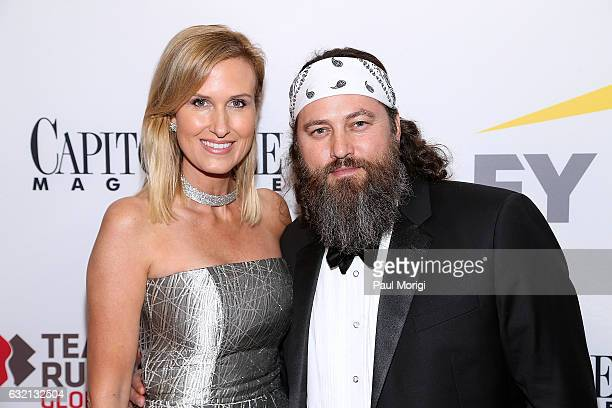 Korie Robertson and Willie Robertson of the reality series Duck Dynasty attend the Capitol File 58th Presidential Inauguration Reception at Fiola...