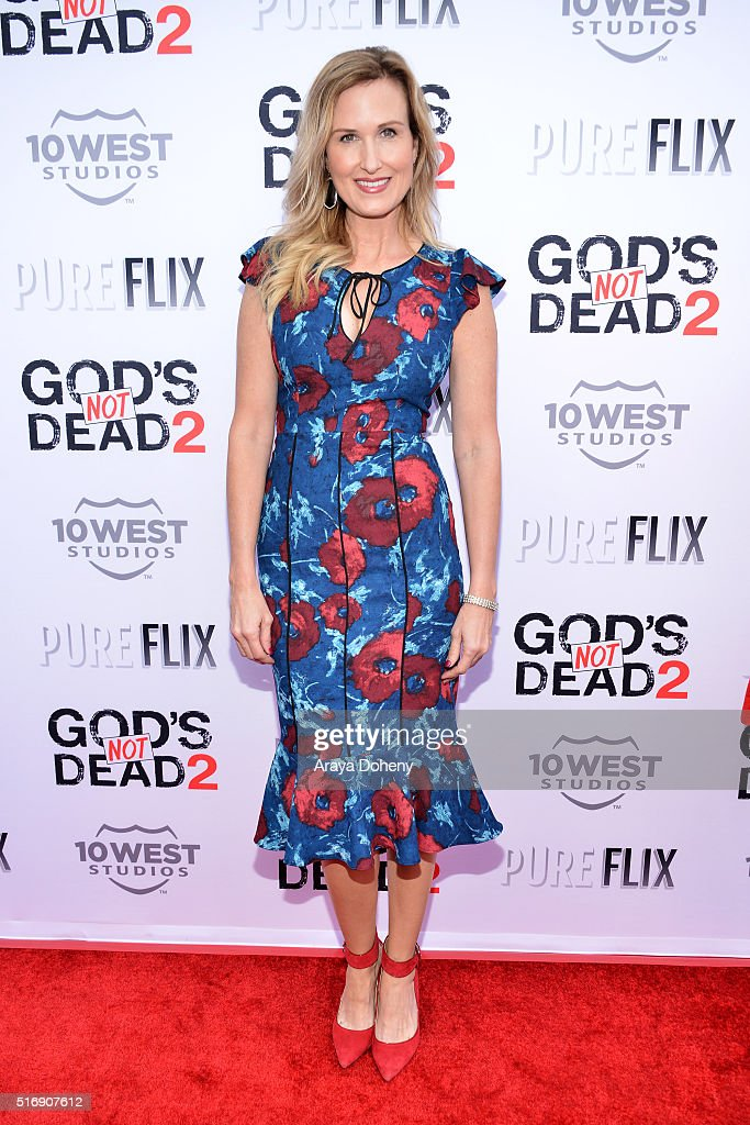 Korie Robertson attends the premiere of Pure Flix Entertainment's 'God's Not Dead 2' at Directors Guild Of America on March 21, 2016 in Los Angeles, California.