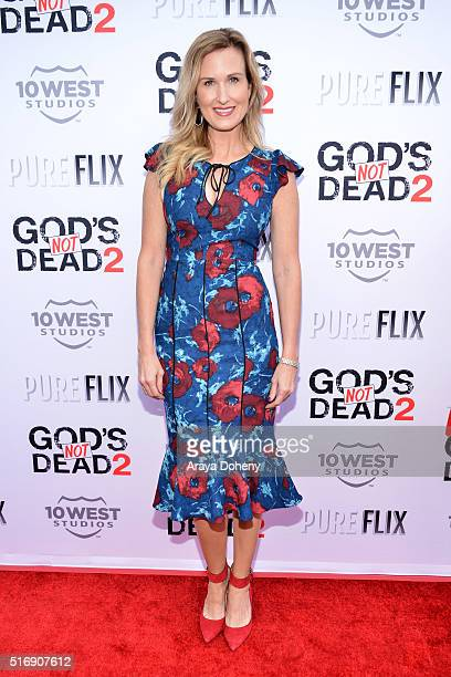 Korie Robertson attends the premiere of Pure Flix Entertainment's God's Not Dead 2 at Directors Guild Of America on March 21 2016 in Los Angeles...