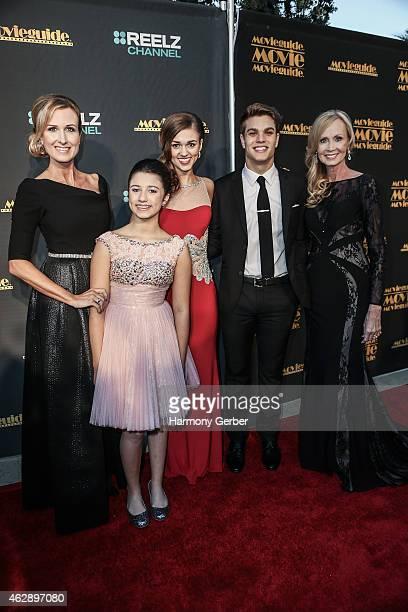 Korie Robertson Bella Robertson Sadie Robertson and John Luke Robertson attend the 23rd Annual MovieGuide Awards at Universal Hilton Hotel on...