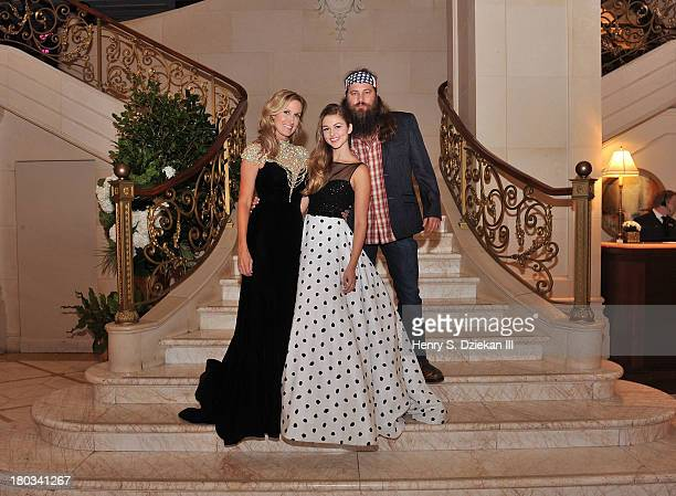 Korie Robertson Sadie Robertson and Willie Robertson attend an Evening By Sherri Hill fashion show after party during MercedesBenz Fashion Week...