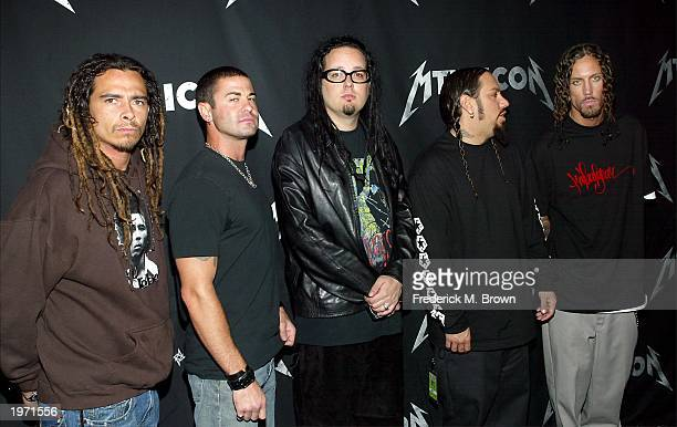 Korn attends mtvICON Metallica at Universal Amphitheatre May 3 2003 in Universal City California mtvICON Metallica premieres Tuesday May 6th at 900pm...