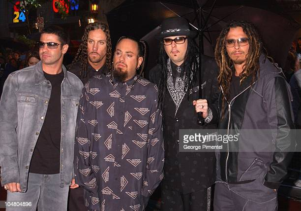 Korn on the red carpet at the MMV Awards during MuchMusic Video Awards 2002 - Arrivals at Chum City Building in Toronto, Ontario, Canada.