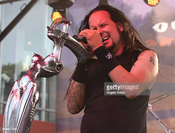 Korn performs during the Sunset Strip Music Festival at Sunset Boulevard on September 12 2009 in Los Angeles California