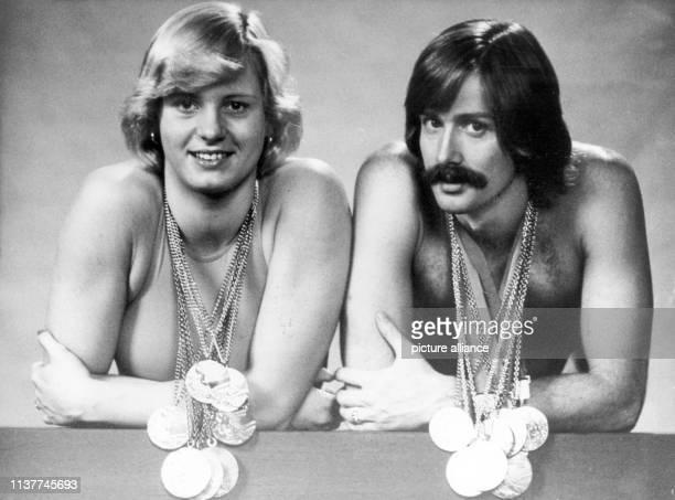 Kornelia Ender und Roland Matthes nach ihren großen Erfolgen bei den Olympischen Spielen 1976 in Montreal Das Traumpaar des DDRSports heiratete 1978...