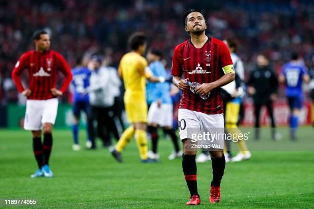 Koroki Shinzo of Urawa Red Diamonds show his dejection after the AFC Champions League Final second leg match between Urawa Red Diamonds and Al Hilal...