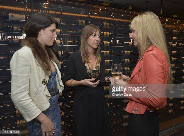 Korovilas' Katie Bernhisel Maria Korovilas and Kristina Stonebreaker attend GenArt's 14th Annual Fresh Faces In Fashion Intimate Dinner at Andaz on...
