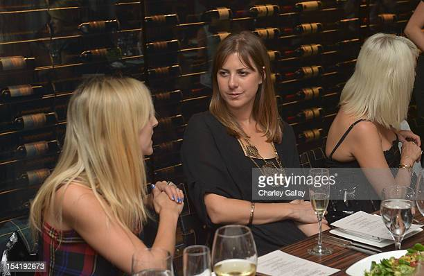 Korovilas' Maria Korovilas attends GenArt's 14th Annual Fresh Faces In Fashion Intimate Dinner at Andaz on October 15 2012 in West Hollywood...