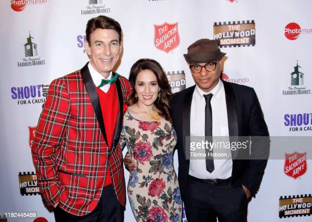 Korros, Christina DeRosa and Clinton H. Wallace attend the Salvation Army's presentation of the 2019 celebrity Red Kettle Kickoff, honoring Danny...