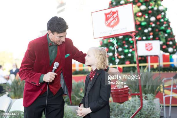 Korros interviews Actor Christian Ganiere at The Salvation Army Celebrity Kettle Kickoff Red Kettle Hollywood at the Original Farmers Market on...