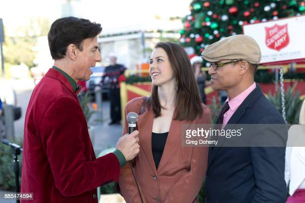 Korros interviews Actress Rini Bell and Producer Clinton H Wallance at The Salvation Army Celebrity Kettle Kickoff Red Kettle Hollywood at the...