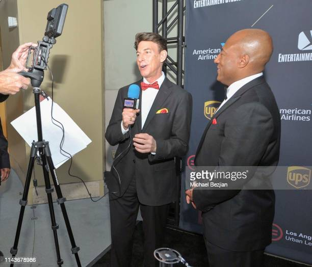 Korros interviews Byron Allen at Byron Allen Honored by Los Angeles Urban League on April 18 2019 in Hollywood California