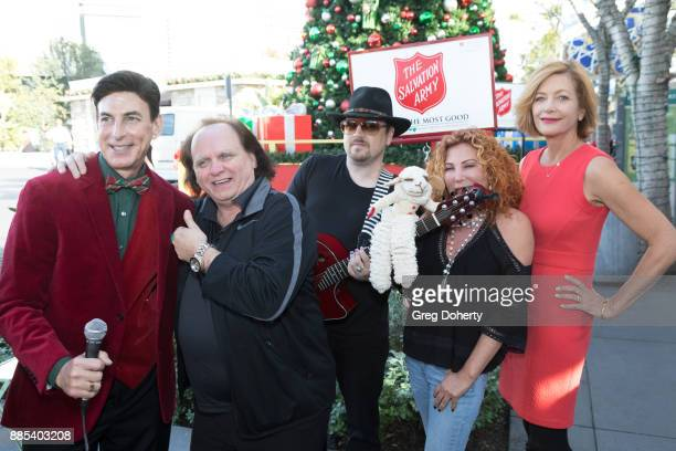 BJ Korros interviews Jimmy Rooney Dillon Campbell Mallory Lewis Lamb Chop and Kiki Ebsen attend The Salvation Army Celebrity Kettle Kickoff Red...