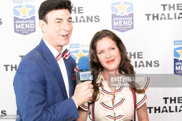 BJ Korros interviews Thalians President Actress Kira Reed Lorsch attend The Thalians Hollywood for Mental Health Presidents Club Party at Dorothy...