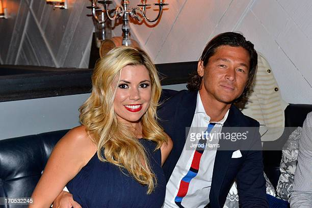Kortney Robb and pro surfer Kalani Robb attend the Tommy Hilfiger San Diego Store Opening After Party at Bailiwick on June 13 2013 in San Diego...