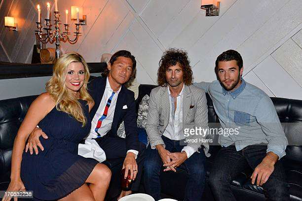 Kortney Robb pro surfer Kalani Robb artist Todd DiCiurcio and actor Josh Bowman attend the Tommy Hilfiger San Diego Store Opening After Party at...