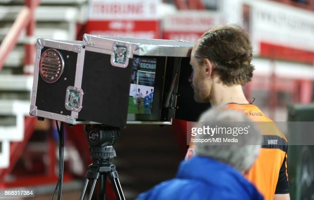 20171028 Kortrijk Belgium / Kv Kortrijk v Krc Genk / 'nWim SMET Video assistant referee VAR'nFootball Jupiler Pro League 2017 2018 Matchday 13 /...