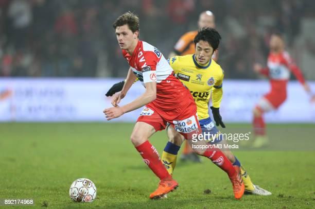 20171202 Kortrijk Belgium / Kv Kortrijk v WaaslandBeveren / 'nHannes VAN DER BRUGGEN Ryota MORIOKA'nFootball Jupiler Pro League 2017 2018 Matchday 17...