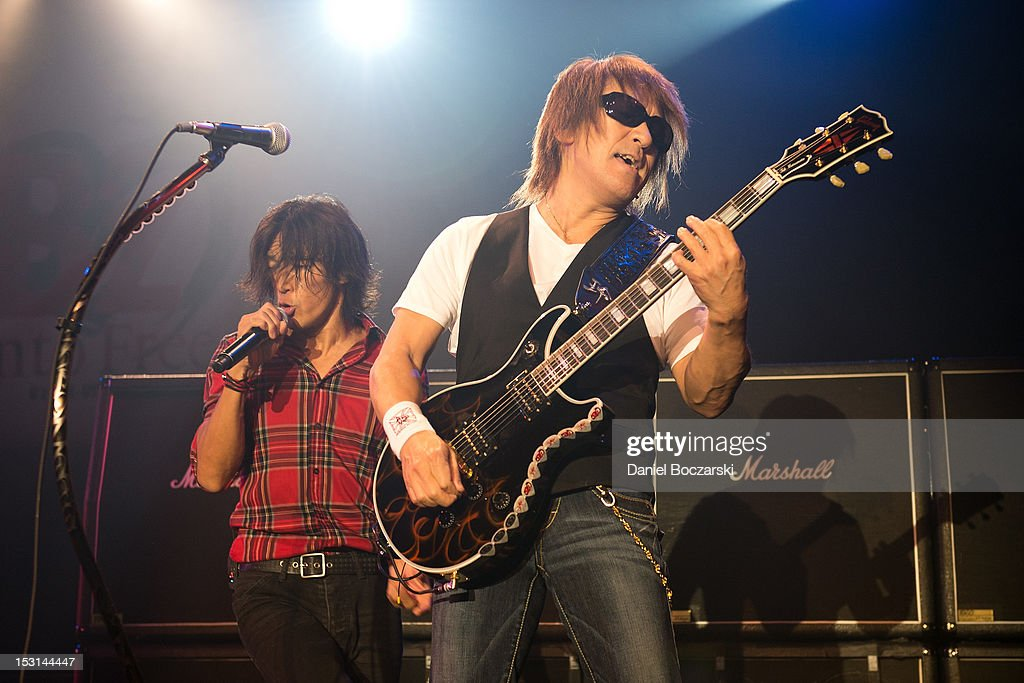 B'z Perform At Best Buy Theater In New York
