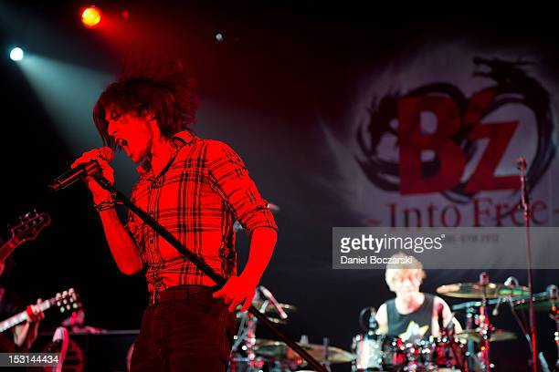 Koshi Inaba of B'z performs on stage at Best Buy on September 30, 2012 in New York, United States.