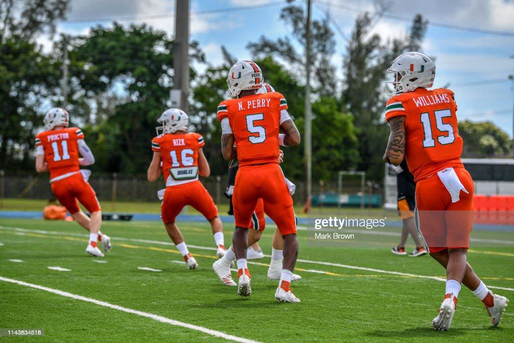 Miami Spring Game : News Photo
