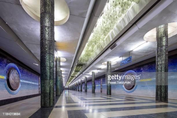 kosmonavtlar metro station in tashkent, uzbekistan - dictator stock pictures, royalty-free photos & images