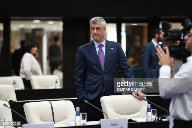 Kosovan President Hashim Thaci attends the EUWestern Balkans Summit in Sofia on May 17 2018 European Union leaders meet their Balkan counterparts to...