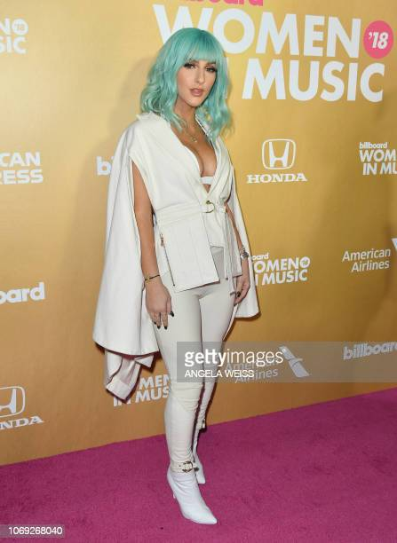 KosovarAmerican singer Njomza attends Billboard's 13th Annual Women In Music event at Pier 36 in New York City on December 6 2018