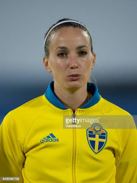 Kosovare Asilani of Sweden during the Group C 2017 Algarve Cup match between China Women and Sweden Women at the Vila Real de Santo Antonio Sports...